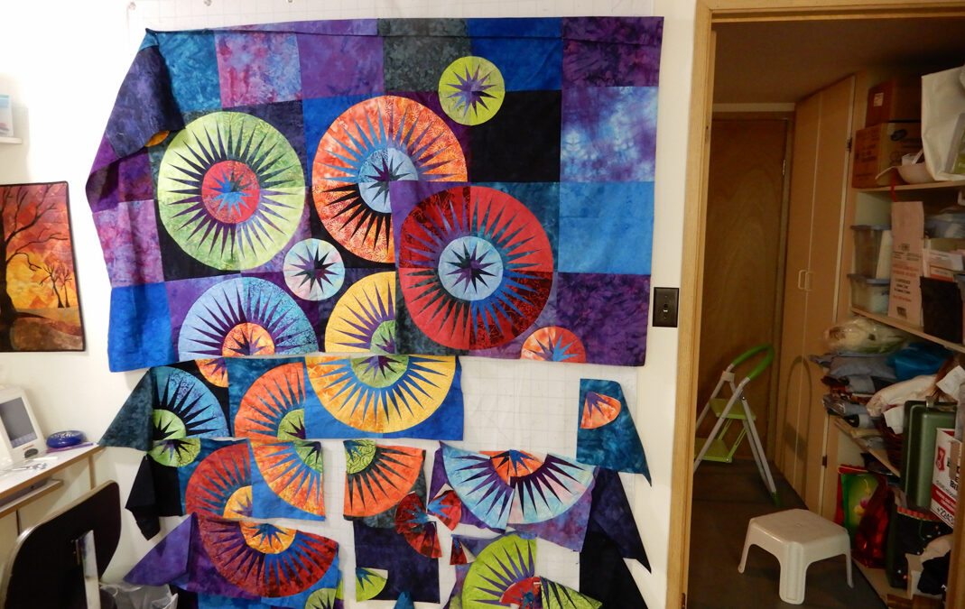 Rain Drops Quilt Pattern and Curved Piecing